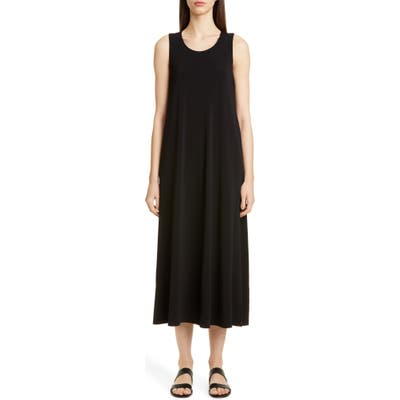 Lafayette 148 New York Ross Midi Tank Dress, Black