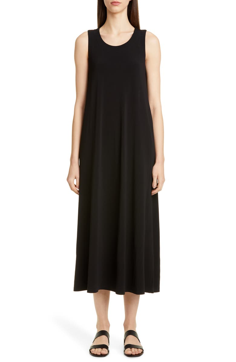 LAFAYETTE 148 NEW YORK Ross Midi Tank Dress, Main, color, BLACK