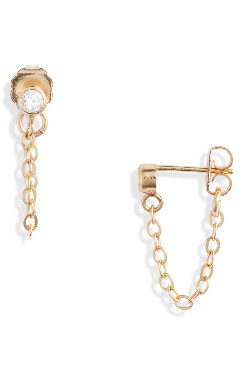 SET & STONES Jett Chain Stud Earrings, Main, color, GOLD