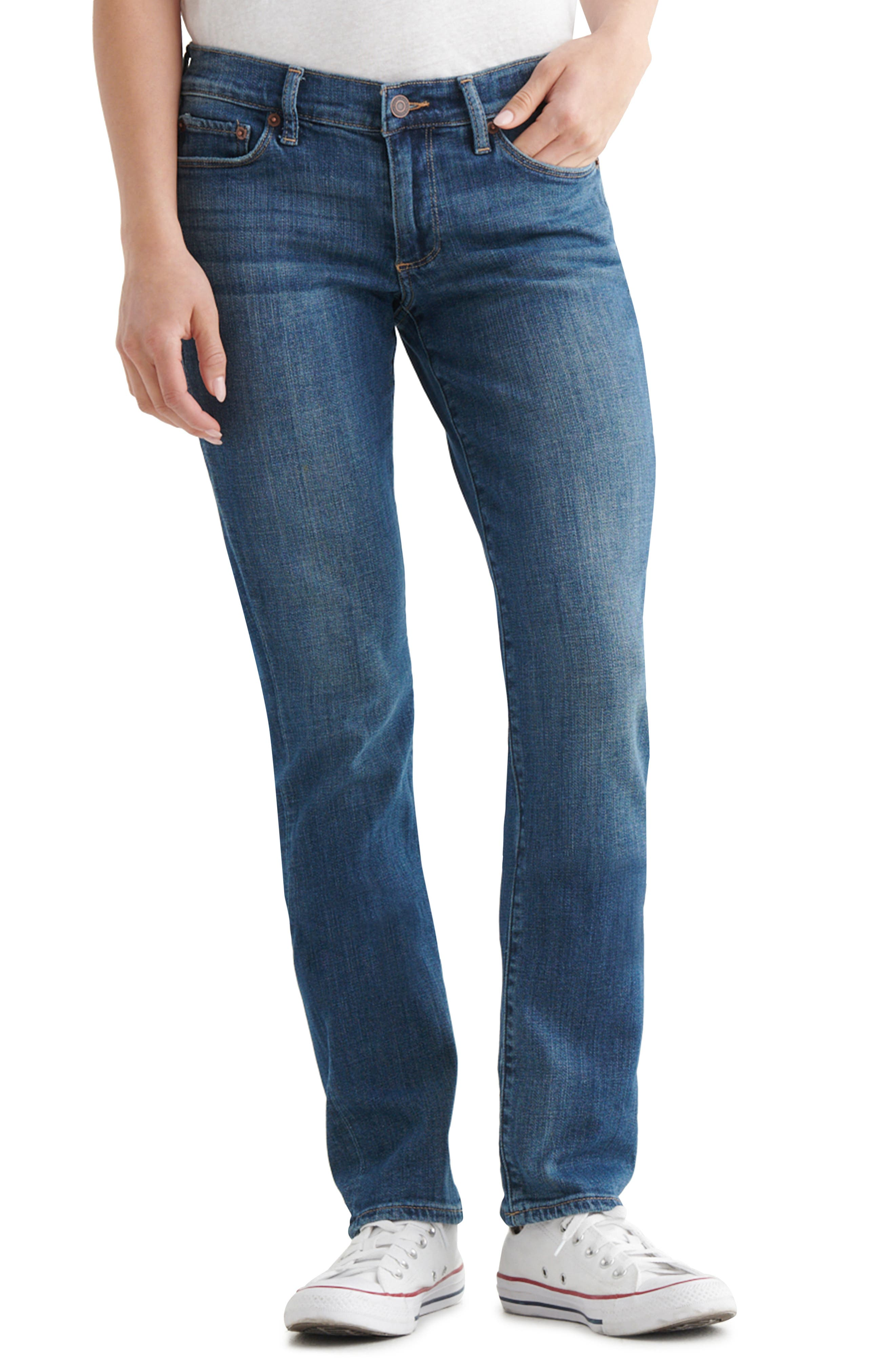 'Sweet 'N' Straight' Stretch Straight Leg Jeans