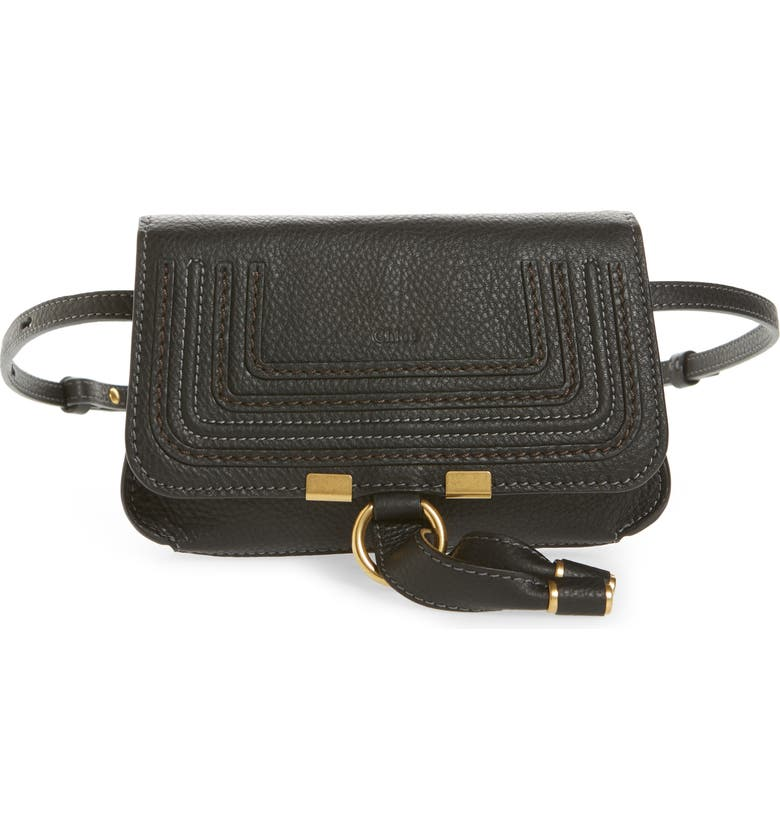 CHLOÉ Marcie Convertible Belt Bag, Main, color, BLACK