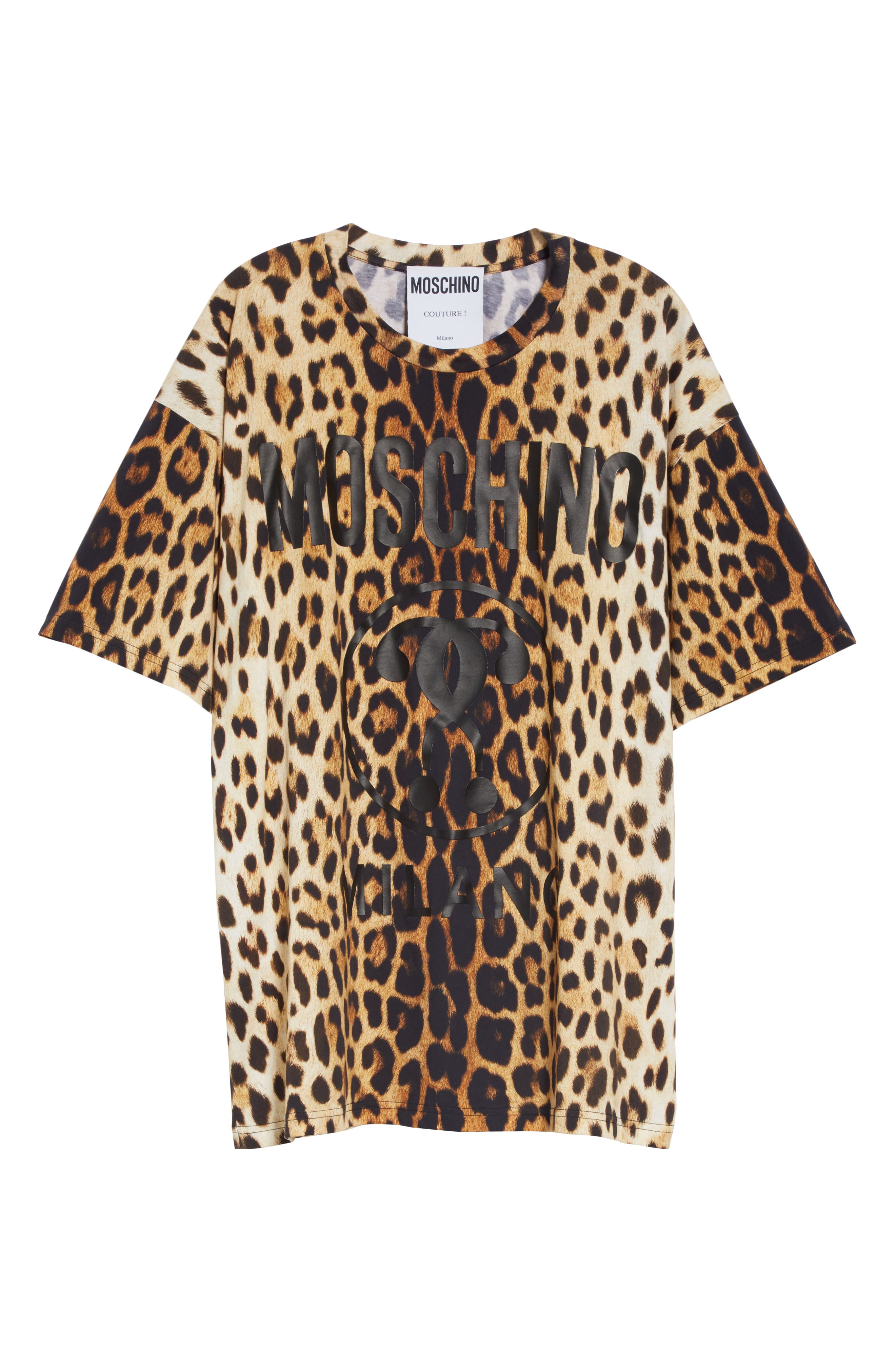,                             Leopard & Logo Print Oversize Tee,                             Alternate thumbnail 6, color,                             230