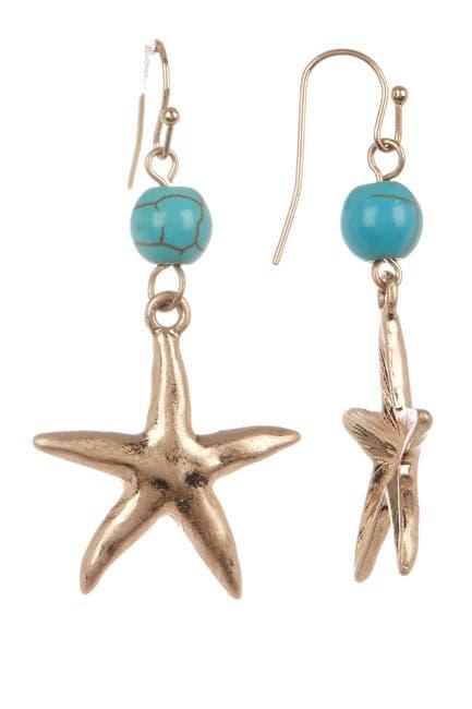 Image of Olivia Welles Cait Resin Beaded Starfish Drop Earrings