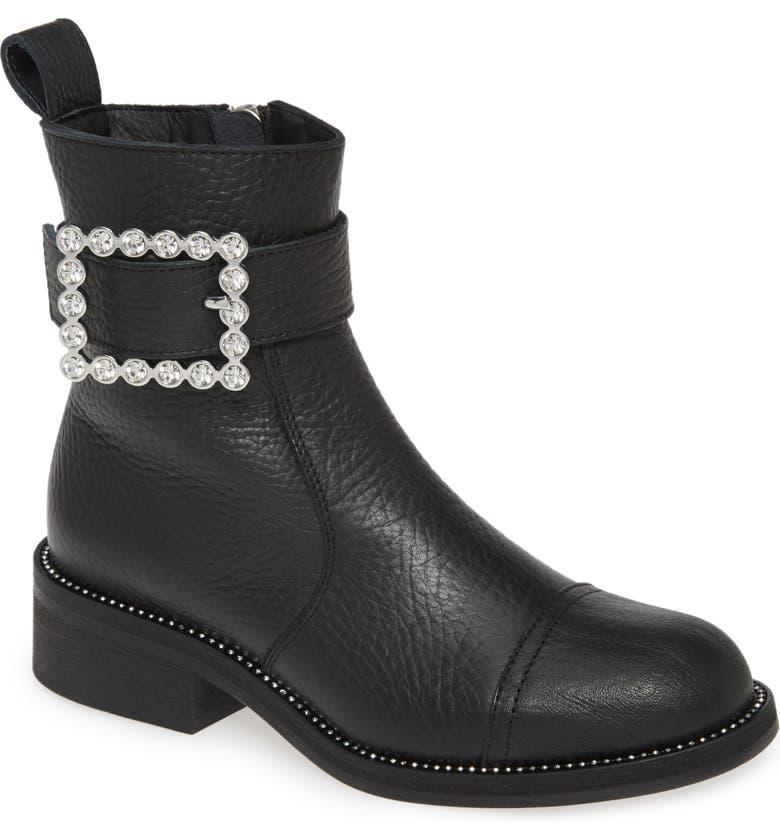 ZADIG & VOLTAIRE Empress Buckle Boot, Main, color, NOIR