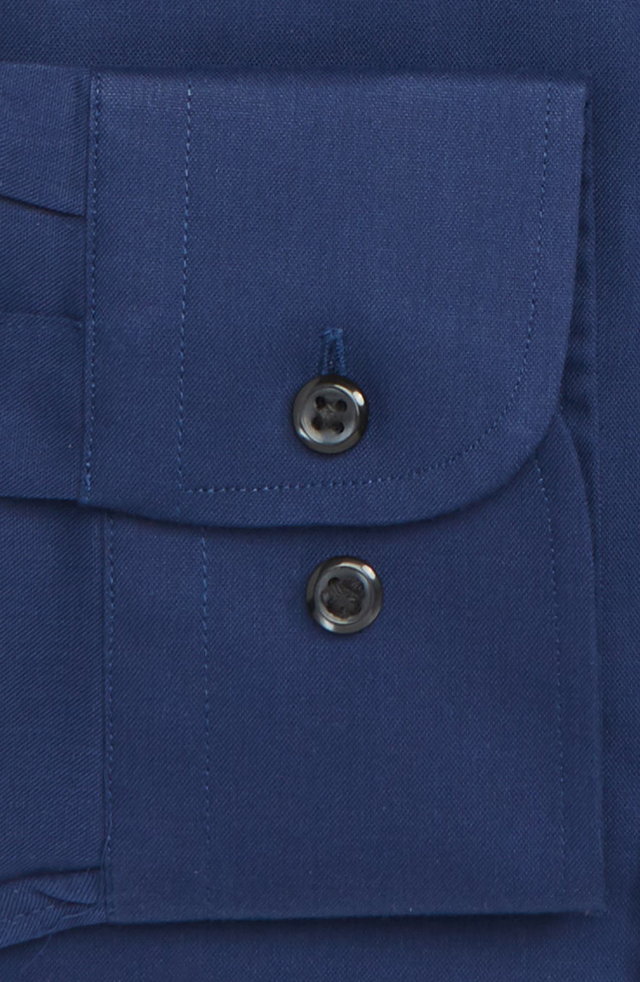 ,                             Extra Trim Fit Non-Iron Solid Dress Shirt,                             Alternate thumbnail 18, color,                             410