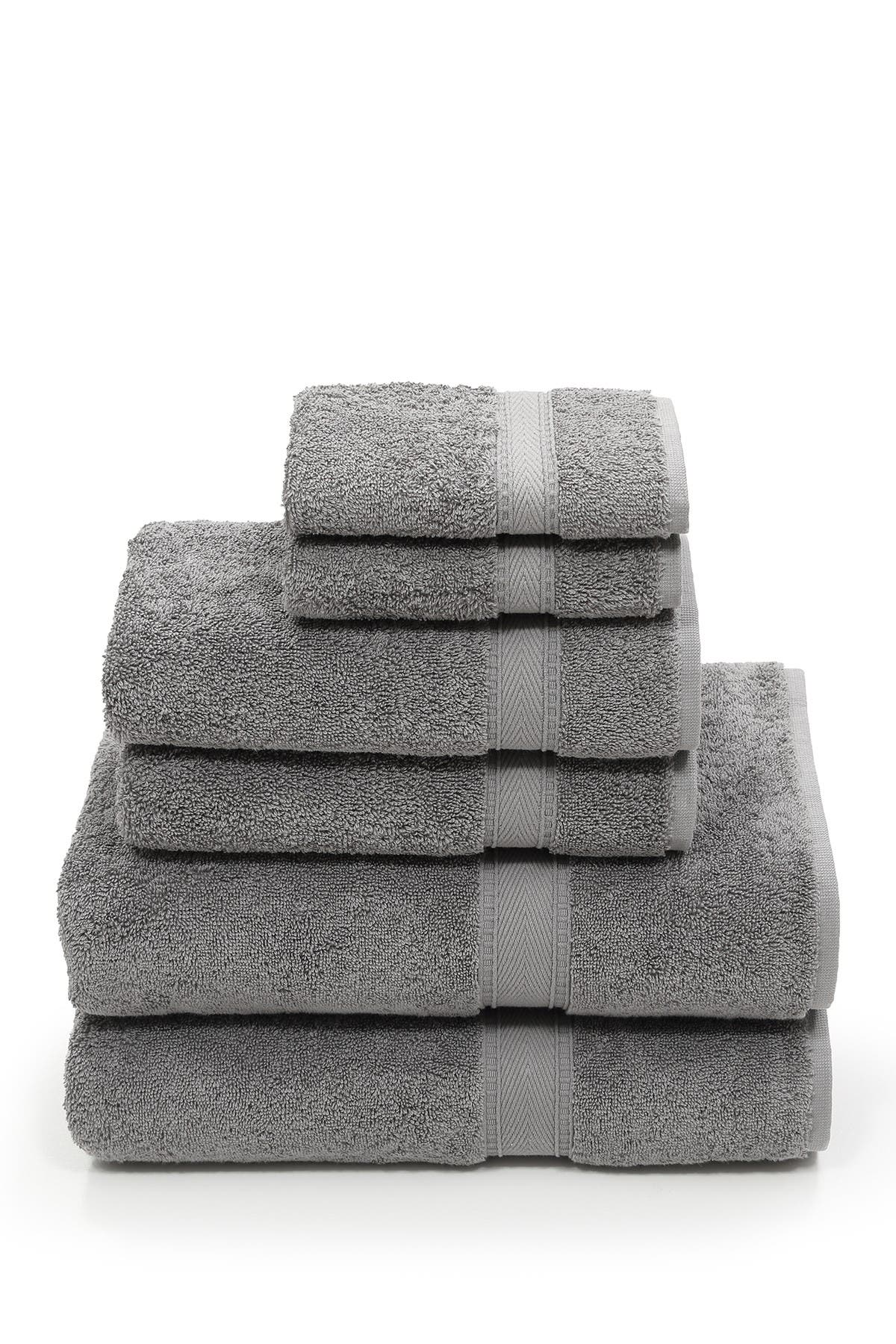 Image of LINUM HOME Sinemis Terry 6-Piece Towel Set - Dark Grey