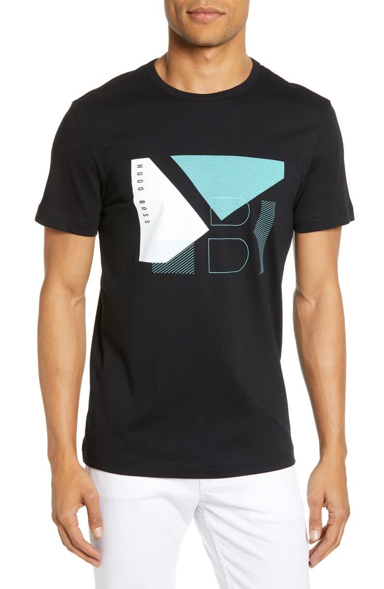 BOSS Regular Fit Graphic T-Shirt, Main, color, BLACK