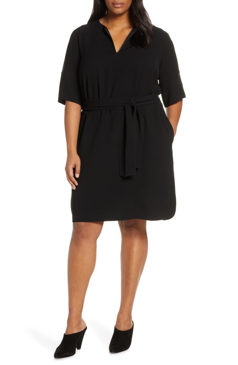 LAFAYETTE 148 NEW YORK Jubilee Belted Dress, Main, color, BLACK