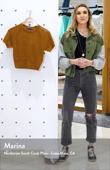 Flinder Short Sleeve Crop Sweater, sales video thumbnail