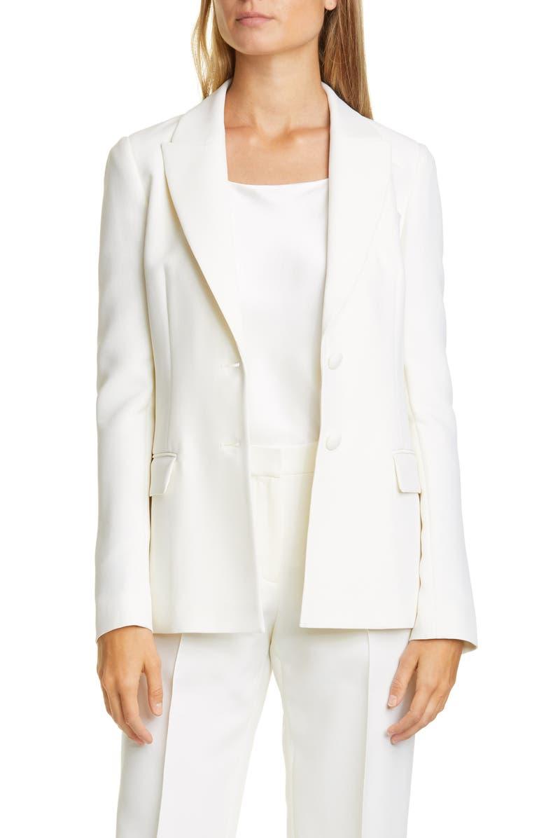 LAFAYETTE 148 NEW YORK Harlow Wool & Silk Blazer, Main, color, CLOUD