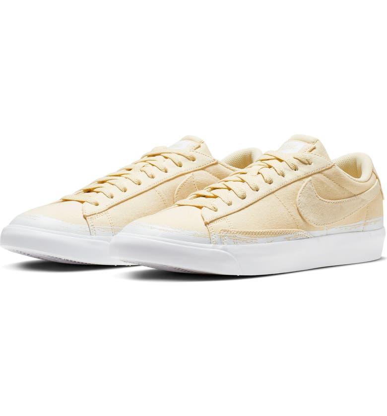 NIKE Blazer Low Top Sneaker, Main, color, MUSLIN/ DESERT ORE/ WHITE