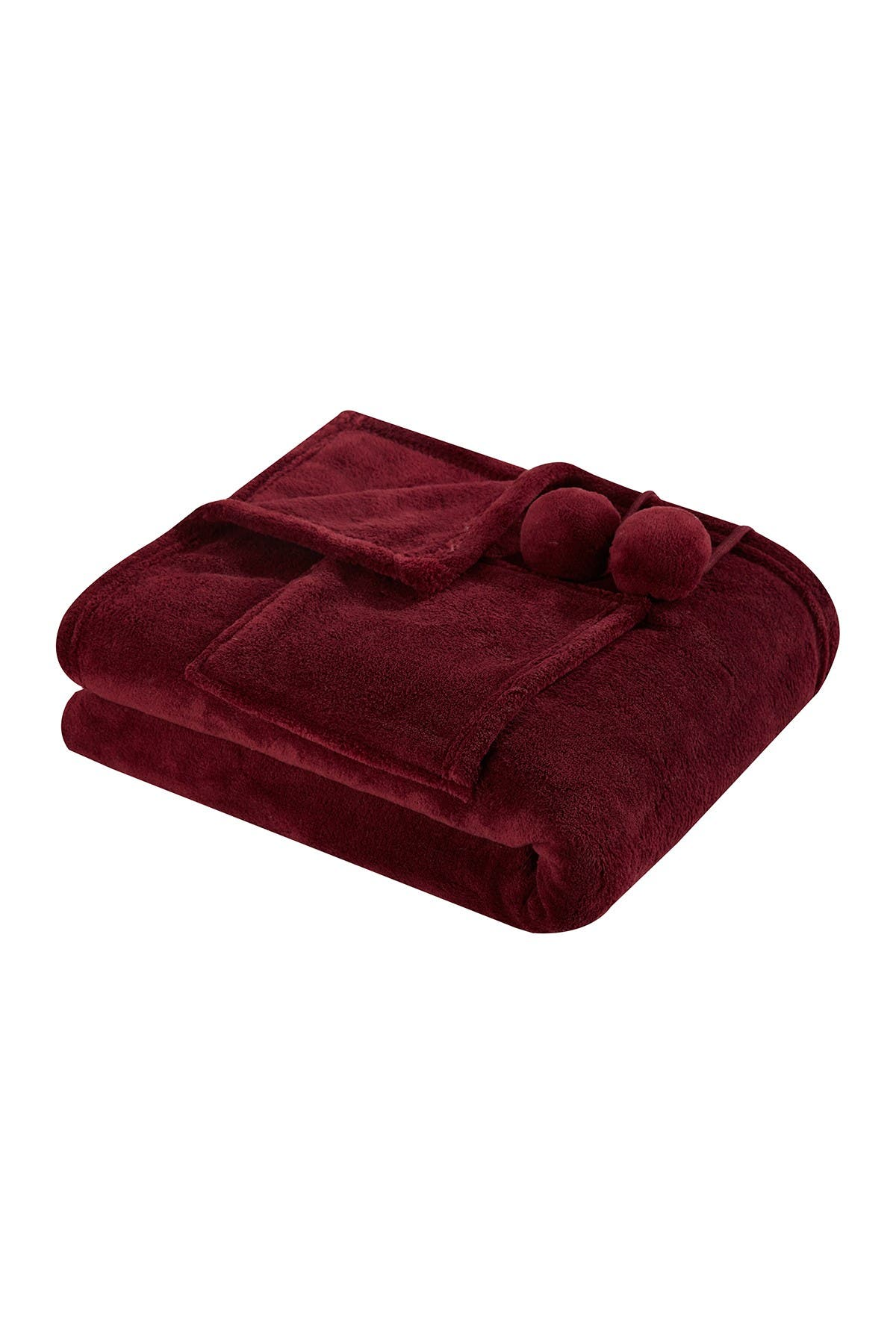 Image of Chic Home Bedding Bruin Soft Plush Fleece Wrap - Burgundy