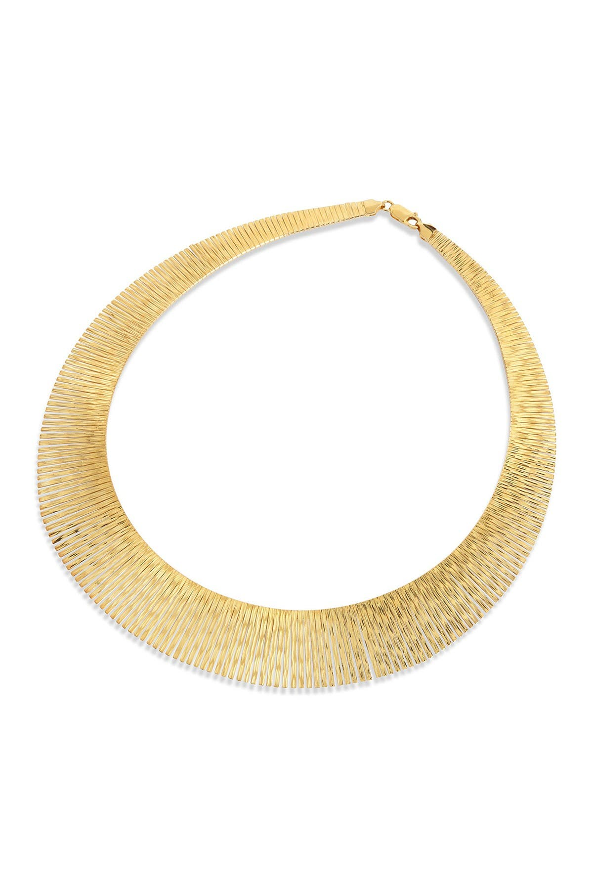 Image of Savvy Cie 18K Gold Bronze Graduated Necklace