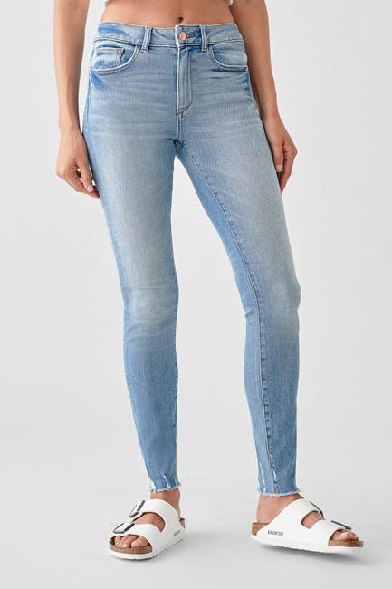 Image of DL1961 Florence Ankle Mid-Rise Skinny Jeans