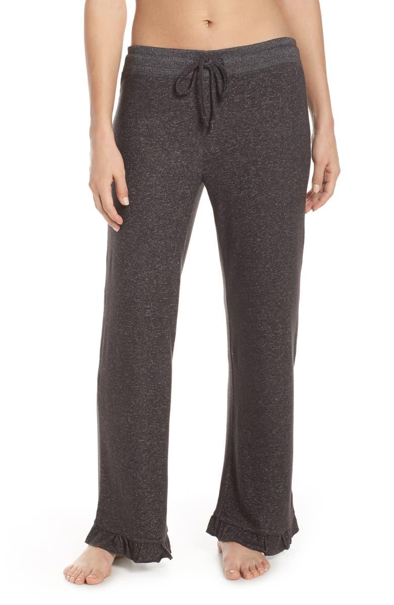 MAKE + MODEL Ruffle Hem Hacci Sweatpants, Main, color, 021