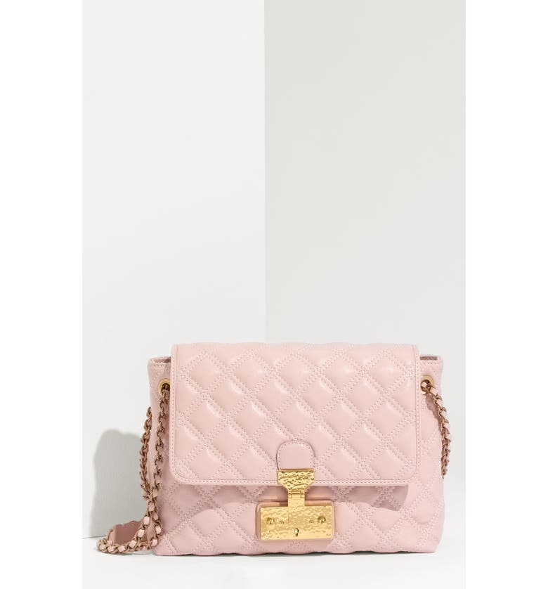 MARC JACOBS 'Baroque - Large' Lambskin Leather Shoulder Bag, Main, color, 650