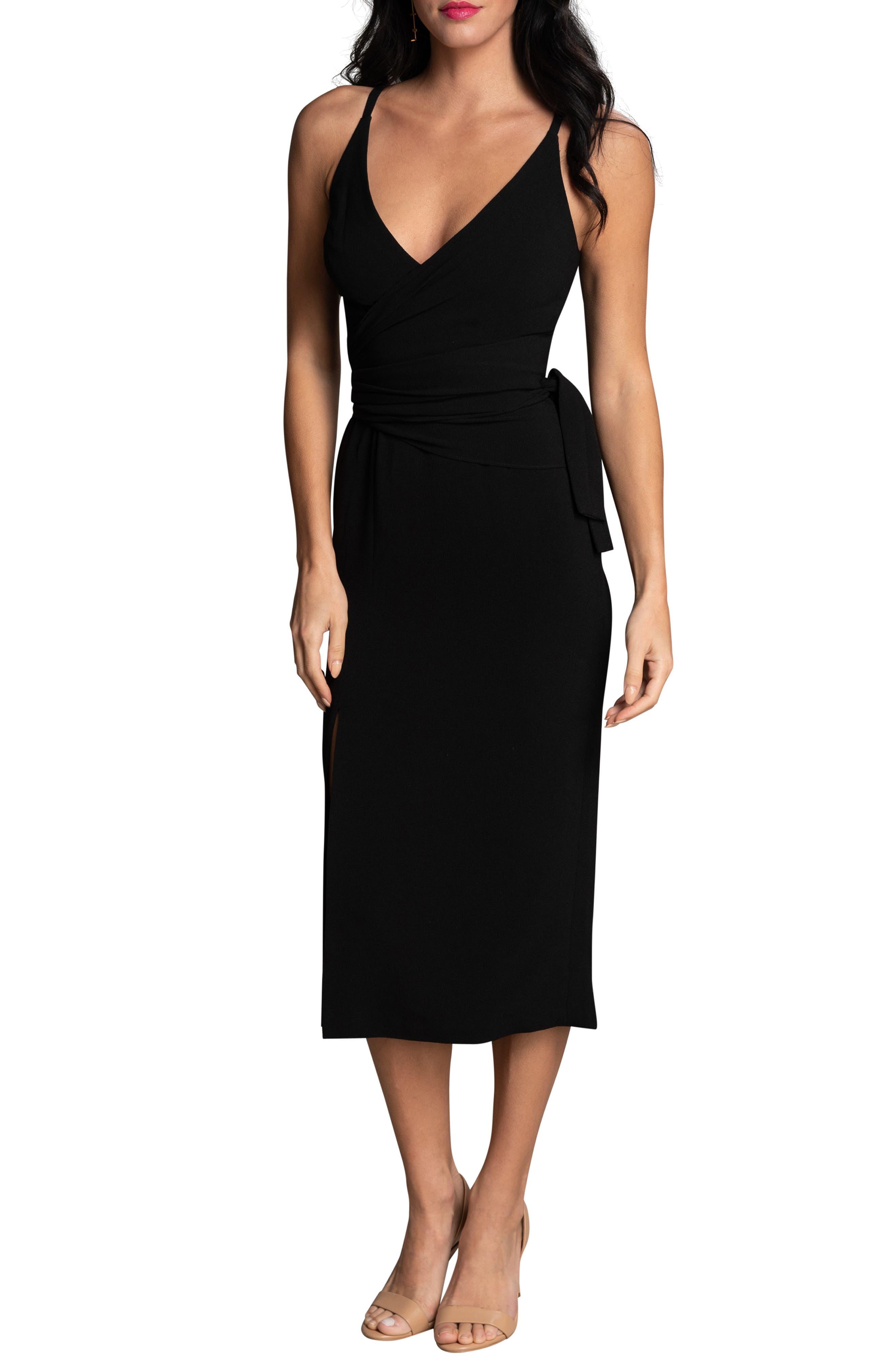 Kiara Side Bow Body-Con Cocktail Dress