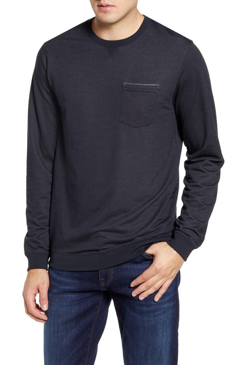 TRAVISMATHEW Lanegan Long Sleeve T-Shirt, Main, color, BLACK/ QUIET SHADE