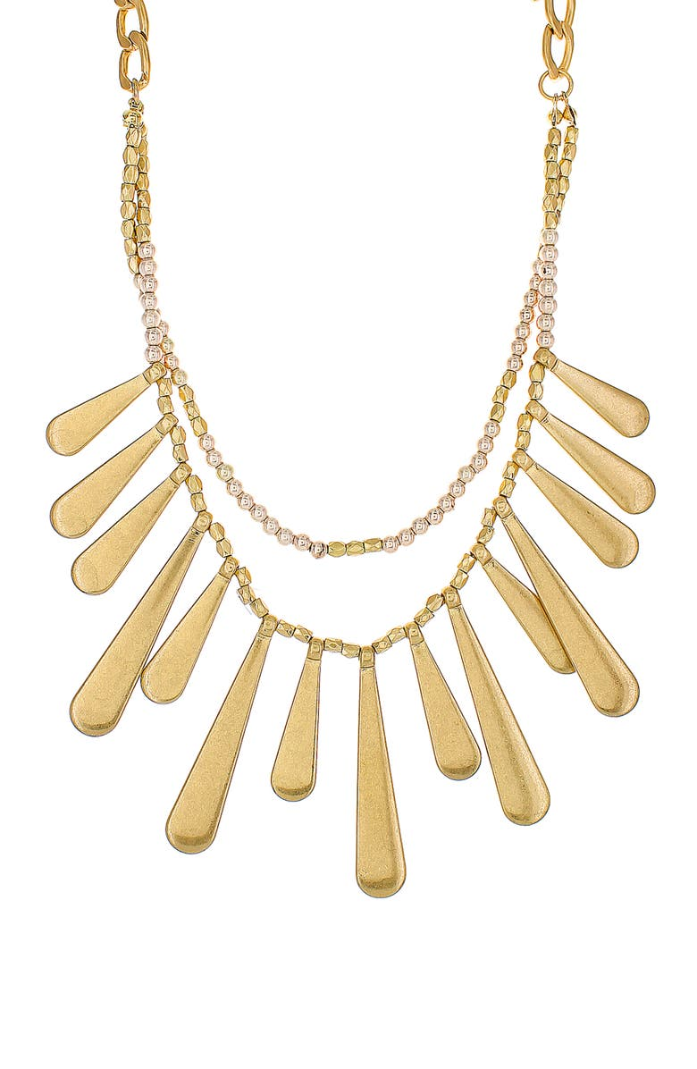 PANACEA Layered Stick Collar Necklace, Main, color, GOLD