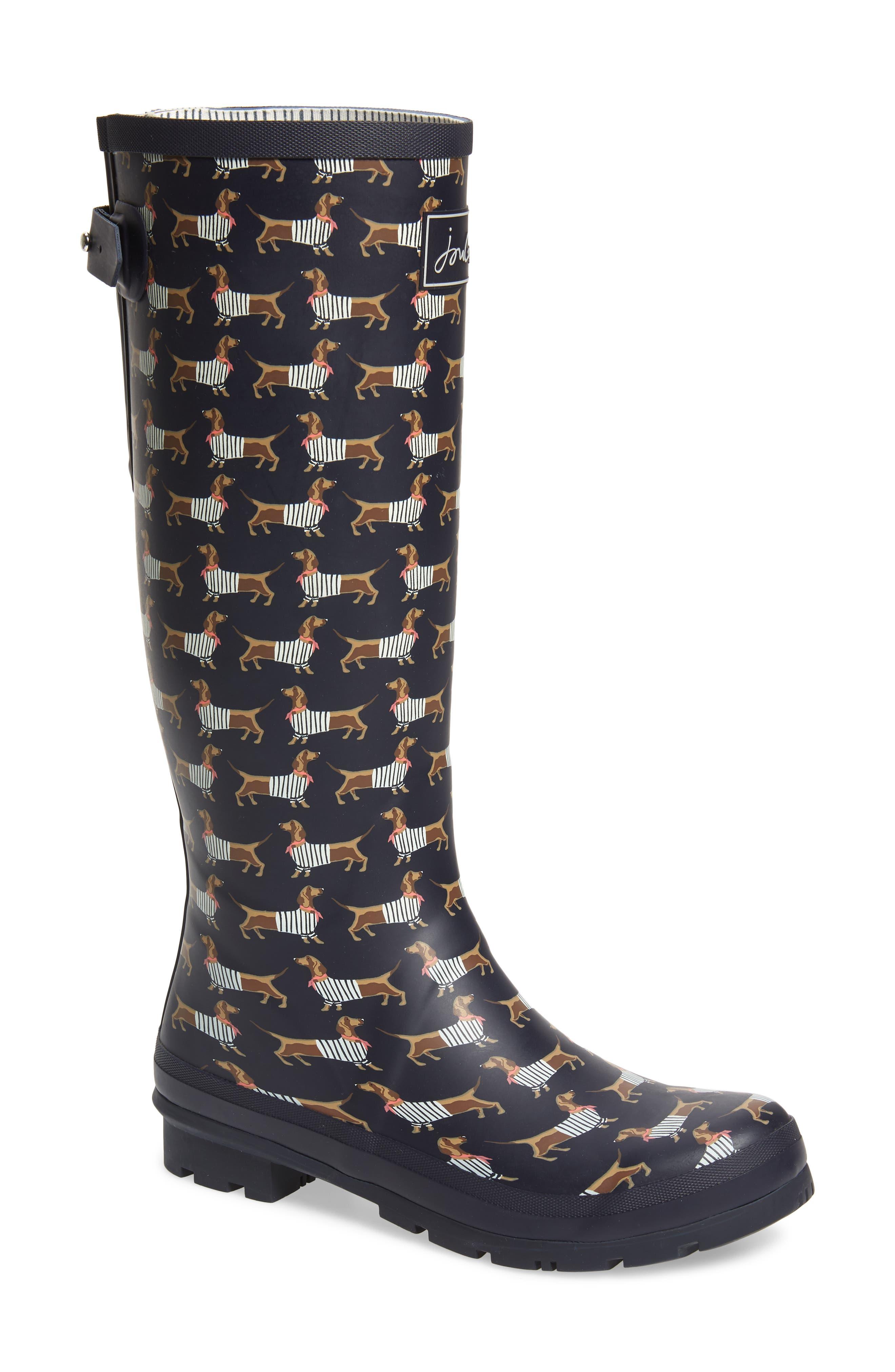 'Welly' Print Rain Boot
