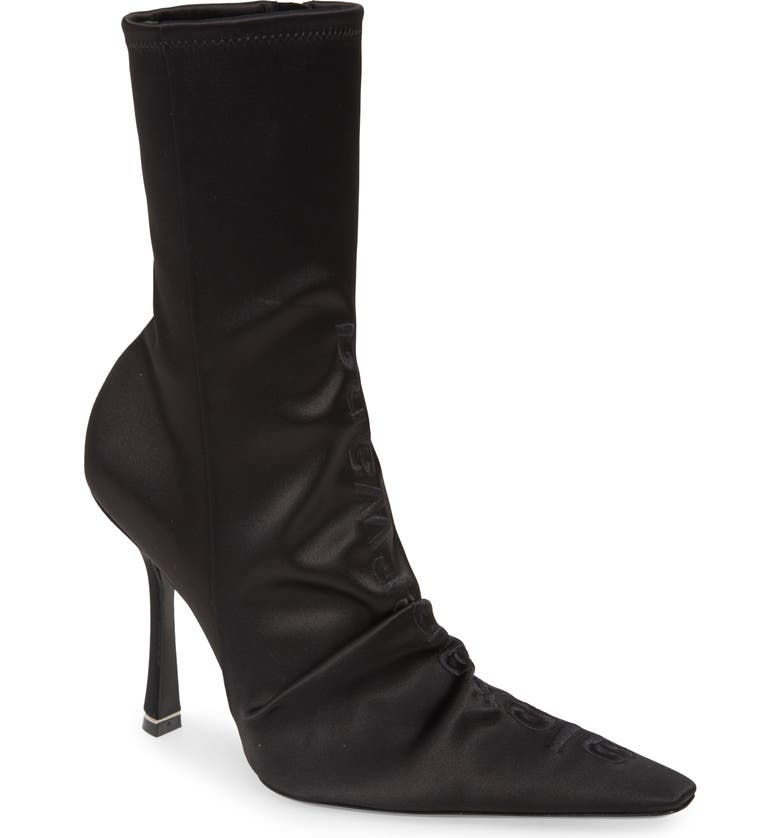 ALEXANDER WANG Vanna Pointy Toe Bootie, Main, color, BLACK