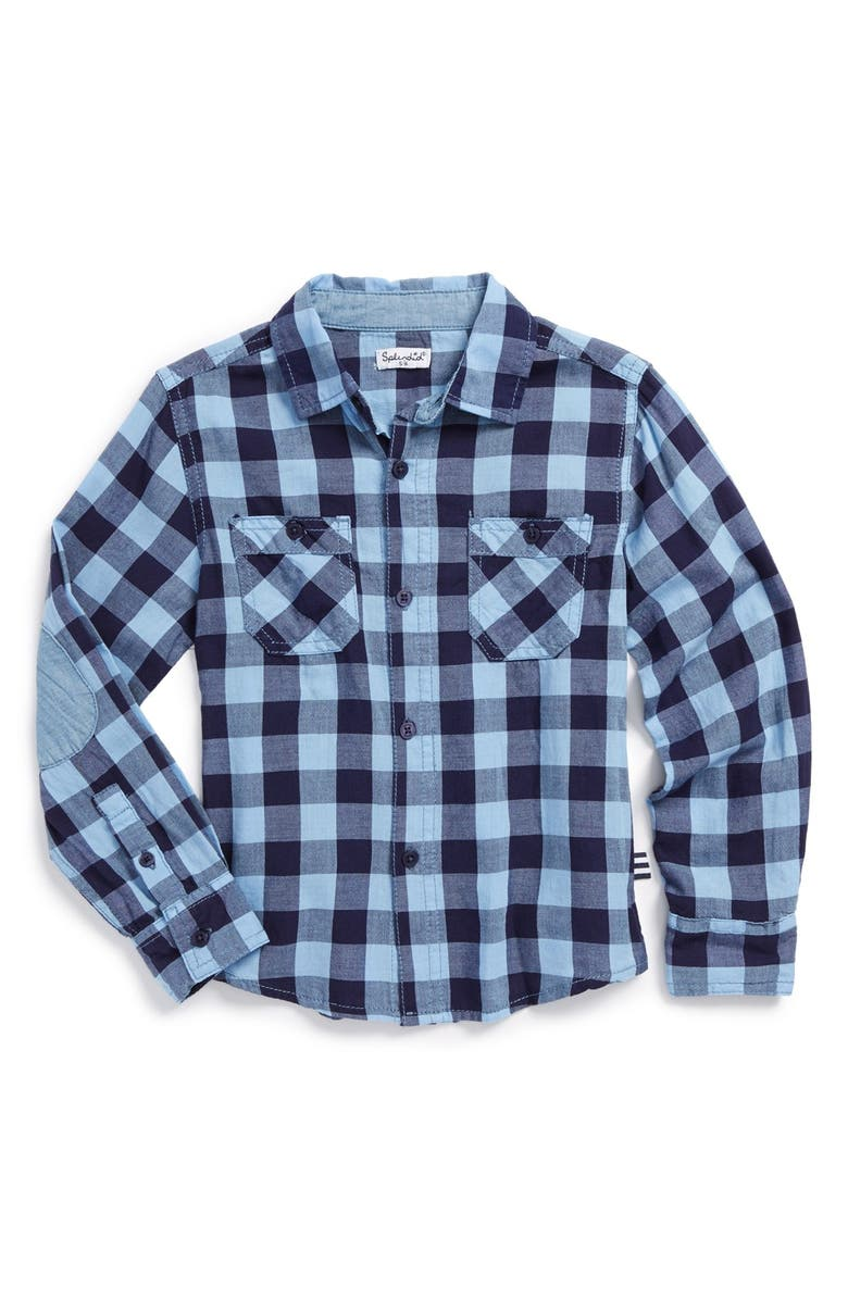38a60ee42 Splendid Elbow Patch Plaid Shirt (Toddler Boys & Little Boys ...