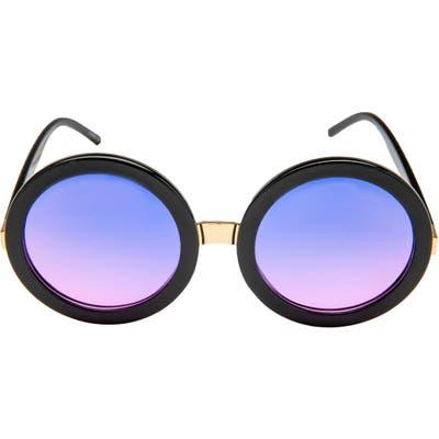 Rad + Refined Gradient Tinted Round Sunglasses - Gradient Purple Lens