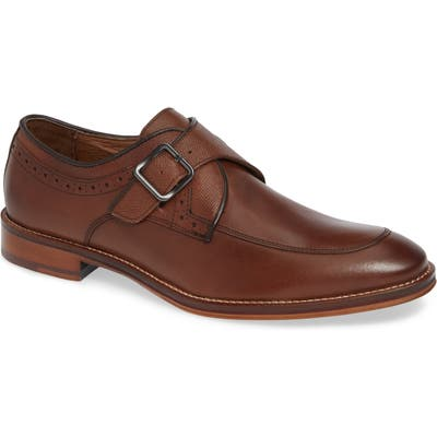 Johnston & Murphy Conard Monk Strap Shoe, Brown