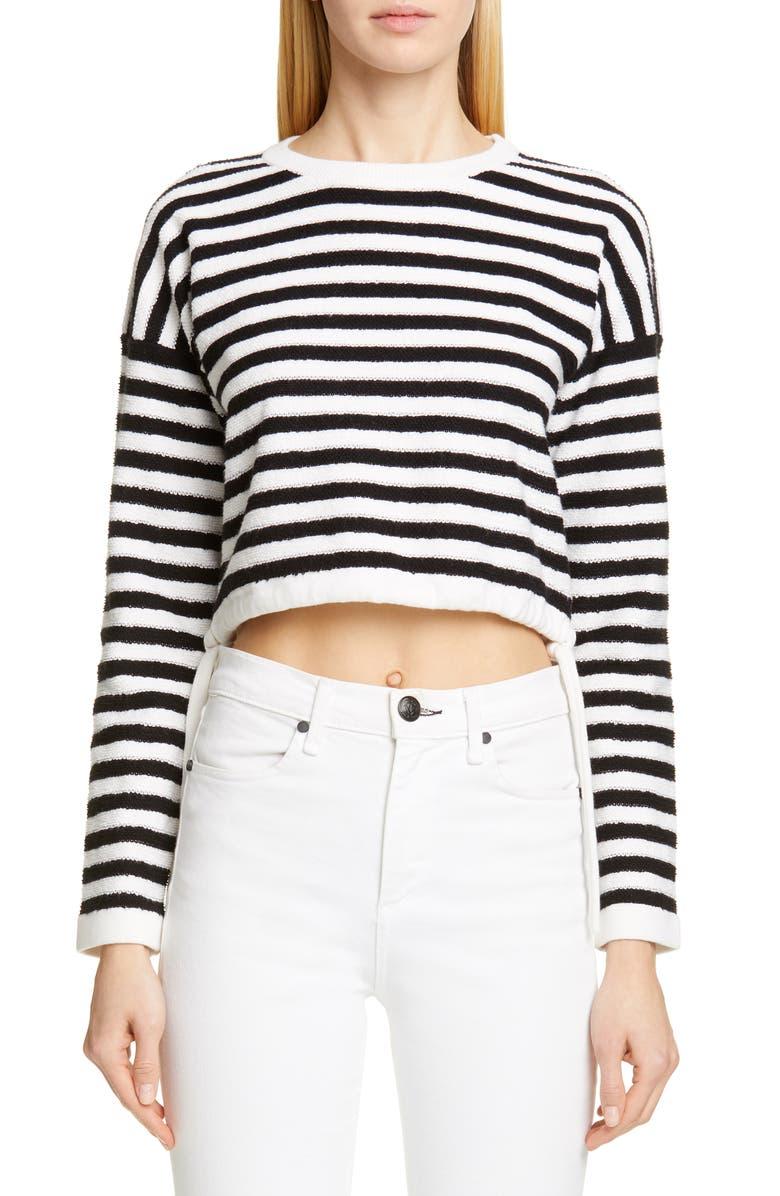 VICTOR GLEMAUD Stripe Crop Top, Main, color, 100