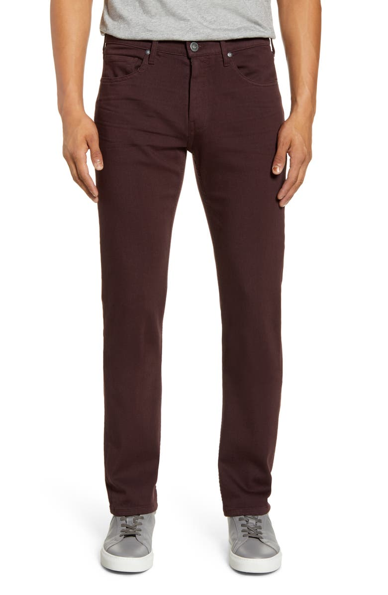 PAIGE Transcend Federal Slim Straight Leg Jeans, Main, color, BURNT TILE