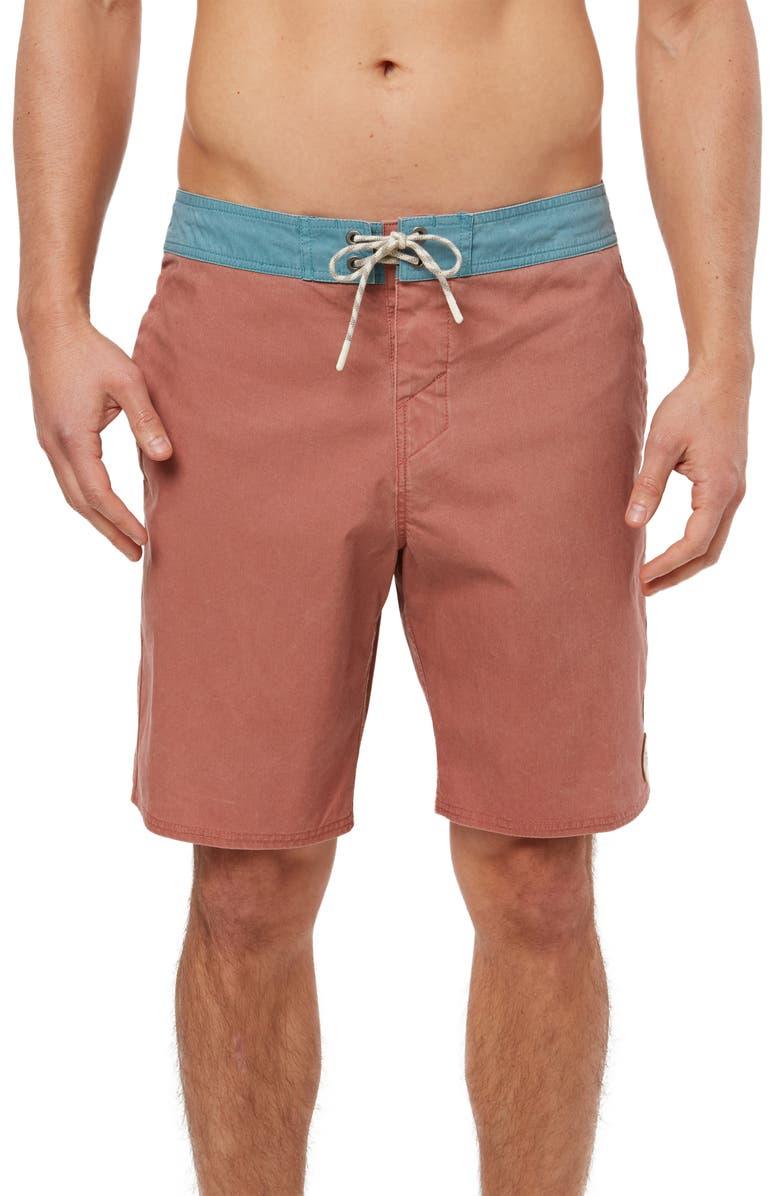 O'NEILL Faded Cruzer Board Shorts, Main, color, RUST