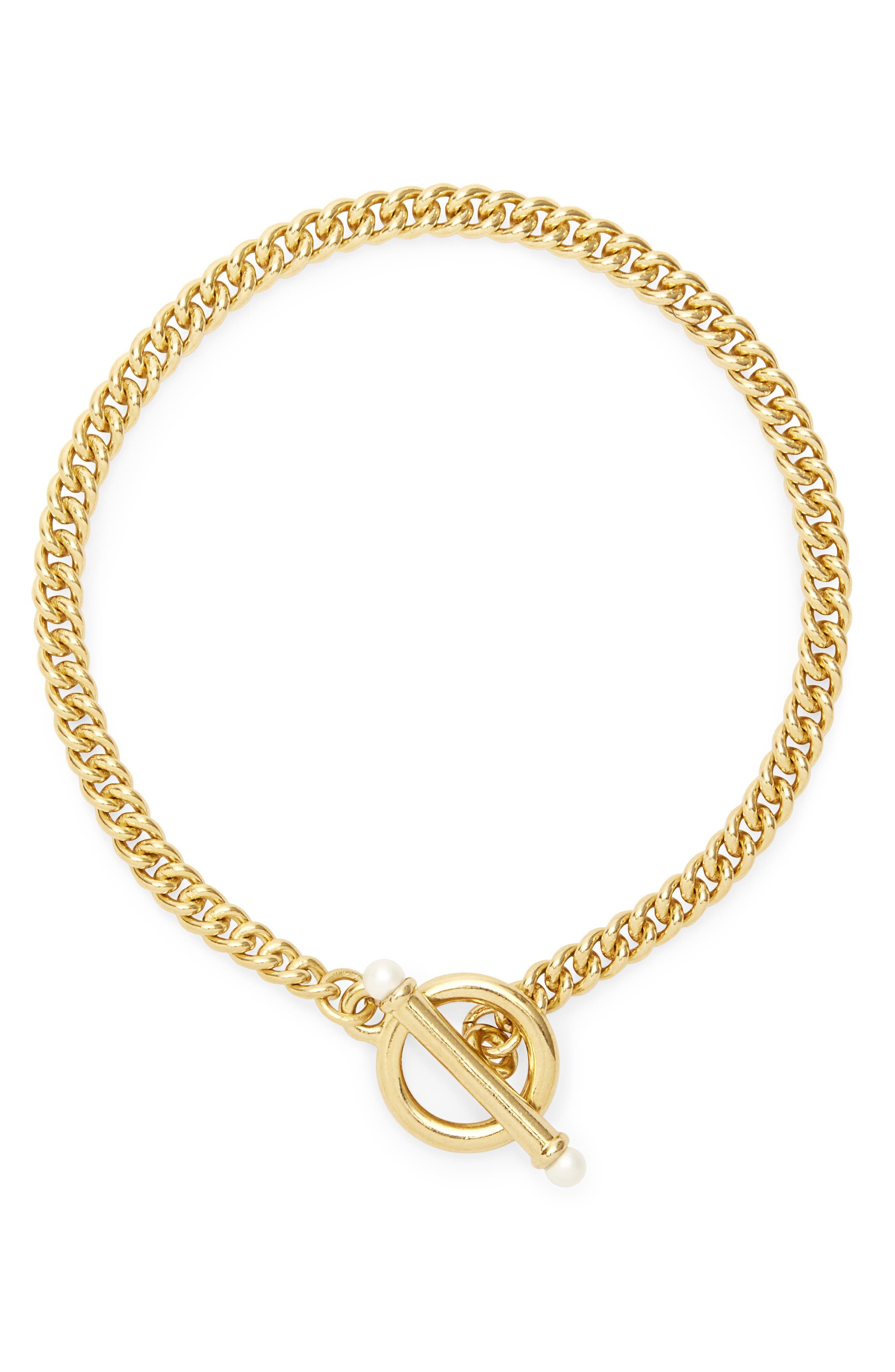 Stella Imitation Pearl Toggle Bracelet