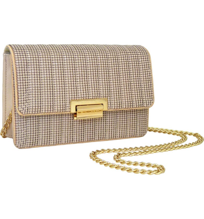 WHITING & DAVIS Sydney Quilted Clutch, Main, color, ALMOND
