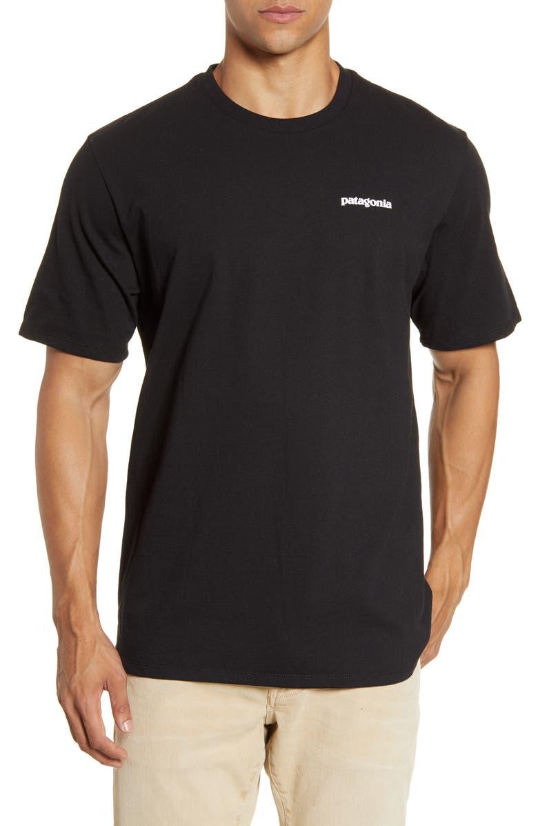 PATAGONIA P-6 Logo Responsibili-Tee<sup>®</sup> Graphic Tee, Main, color, BLACK