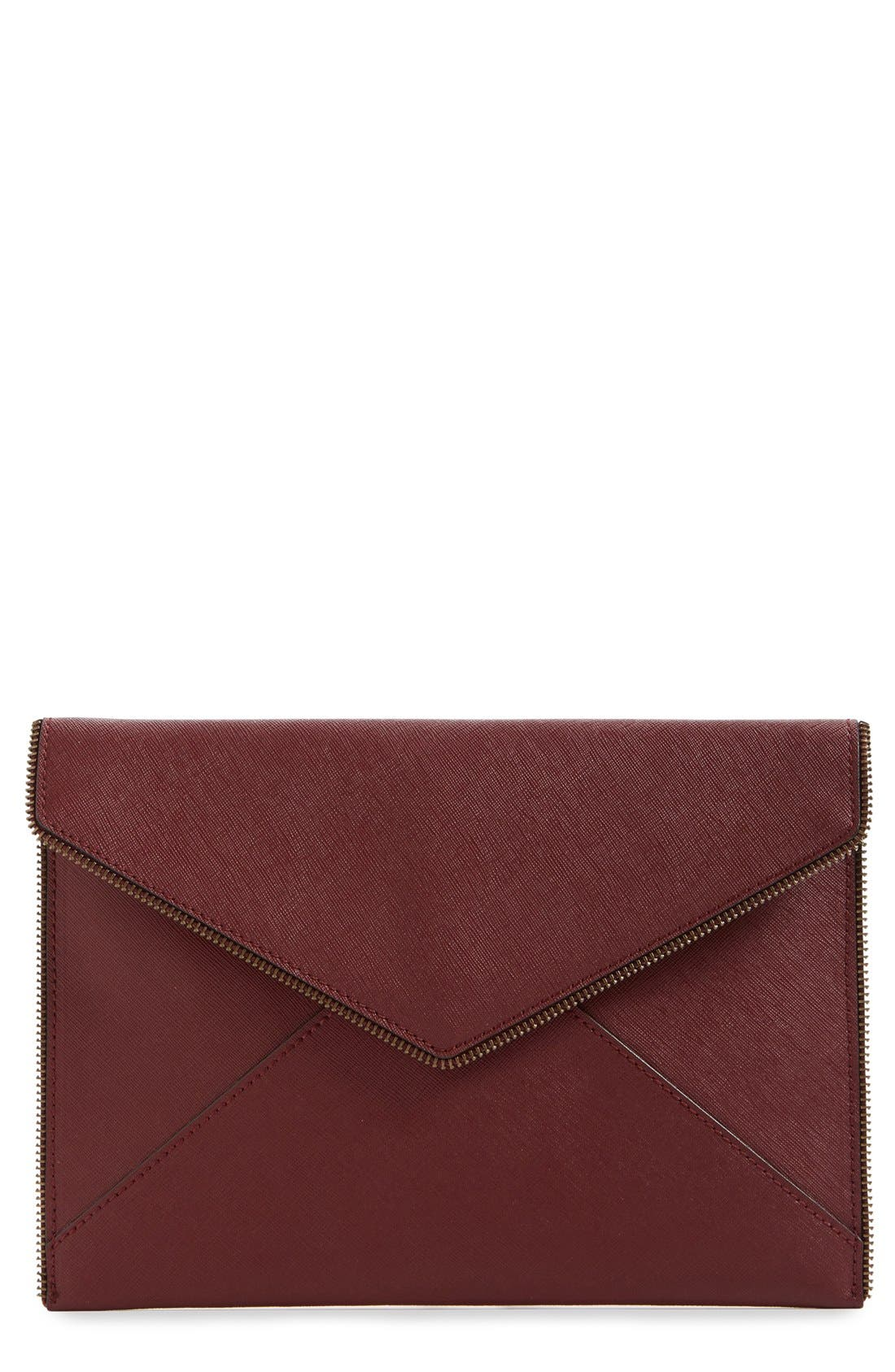 ,                             Leo Envelope Clutch,                             Main thumbnail 315, color,                             930