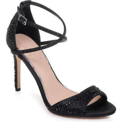 Jewel Badgley Mischka Dillon Crystal Embellished Sandal, Black
