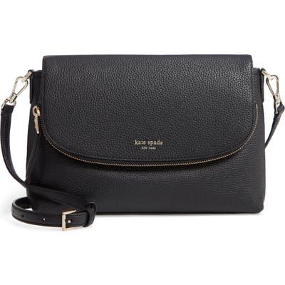 Kate Spade New York Large Polly Leather Crossbody Bag - Black