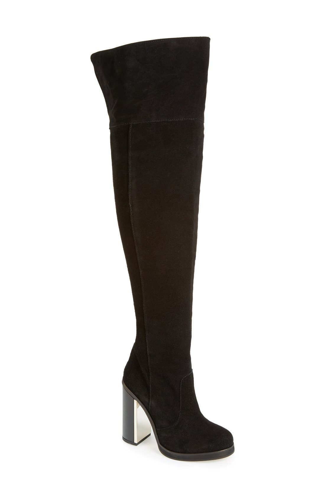 ,                             'Carbon' Over the Knee Boot,                             Main thumbnail 1, color,                             001