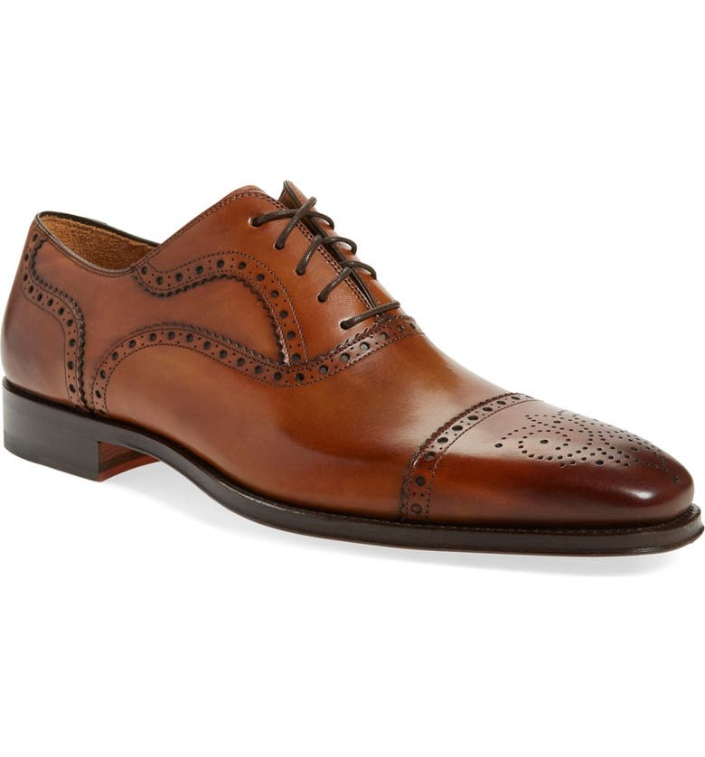 MAGNANNI 'Santiago' Cap Toe Oxford, Main, color, 220