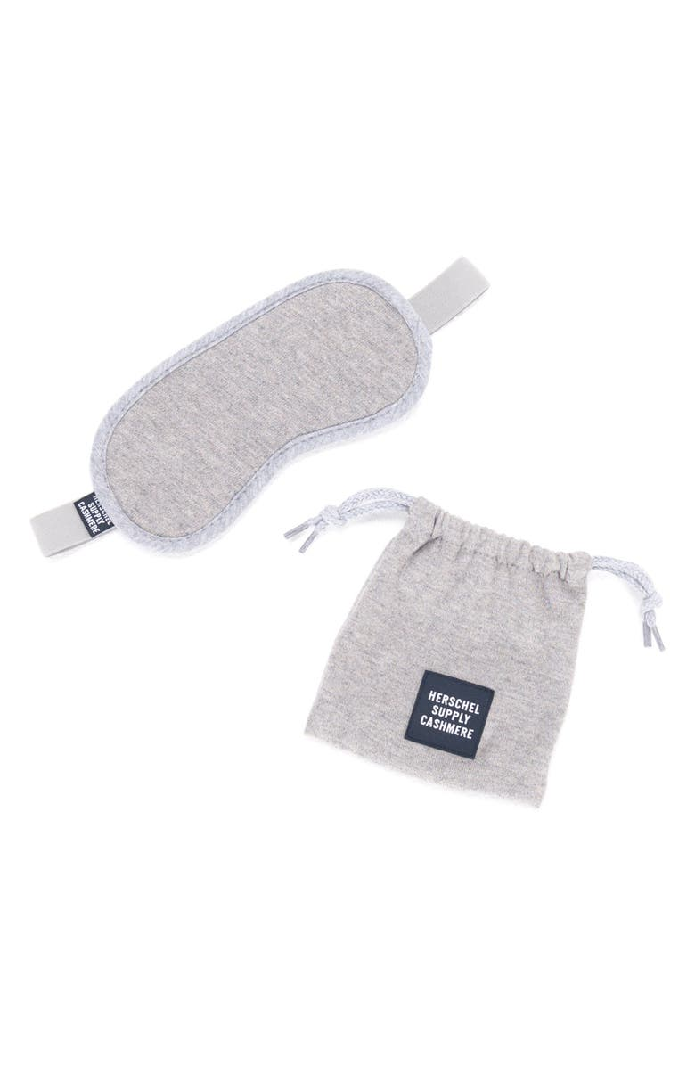 HERSCHEL SUPPLY CO. Cashmere Eye Mask, Main, color, 020