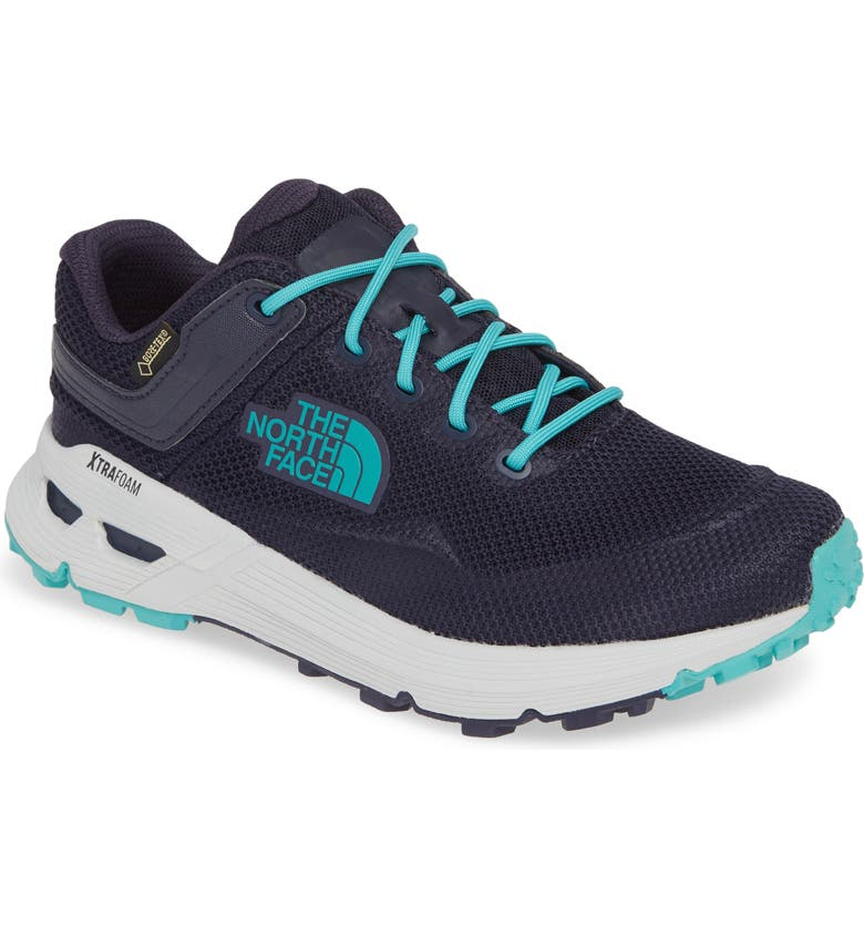 THE NORTH FACE Safien Gore-Tex<sup>®</sup> Waterproof Hiking Sneaker, Main, color, PEACOAT NAVY/ ION BLUE