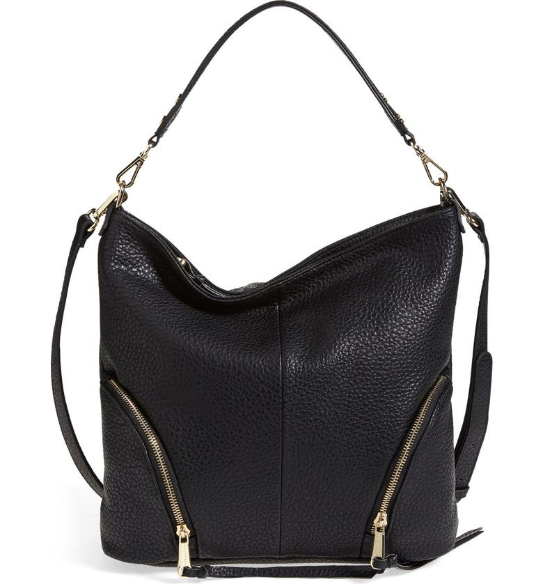 POVERTY FLATS BY RIAN 'Round Zip' Hobo Bag, Main, color, 001