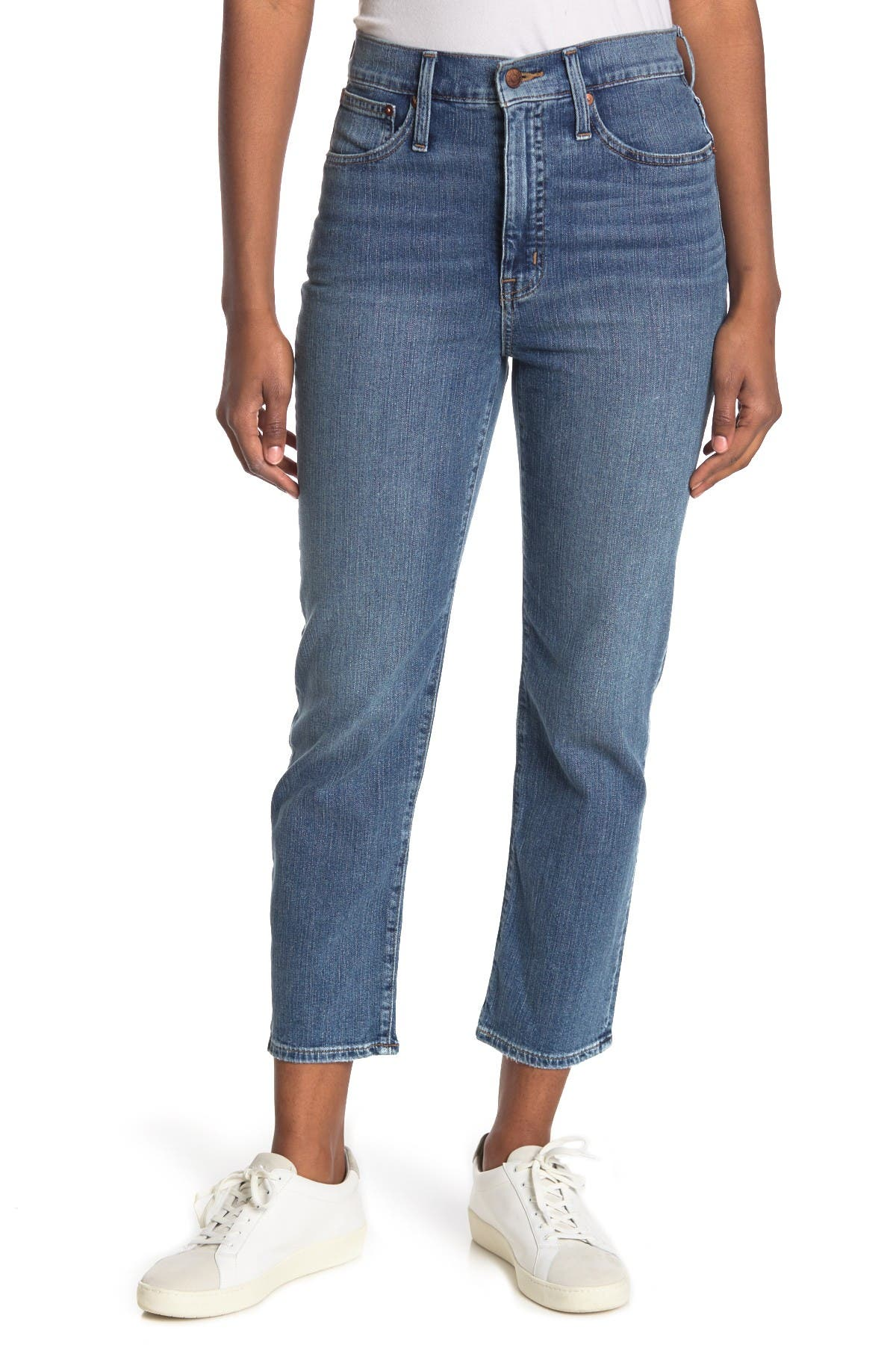 Image of Madewell Classic Straight Leg Jeans