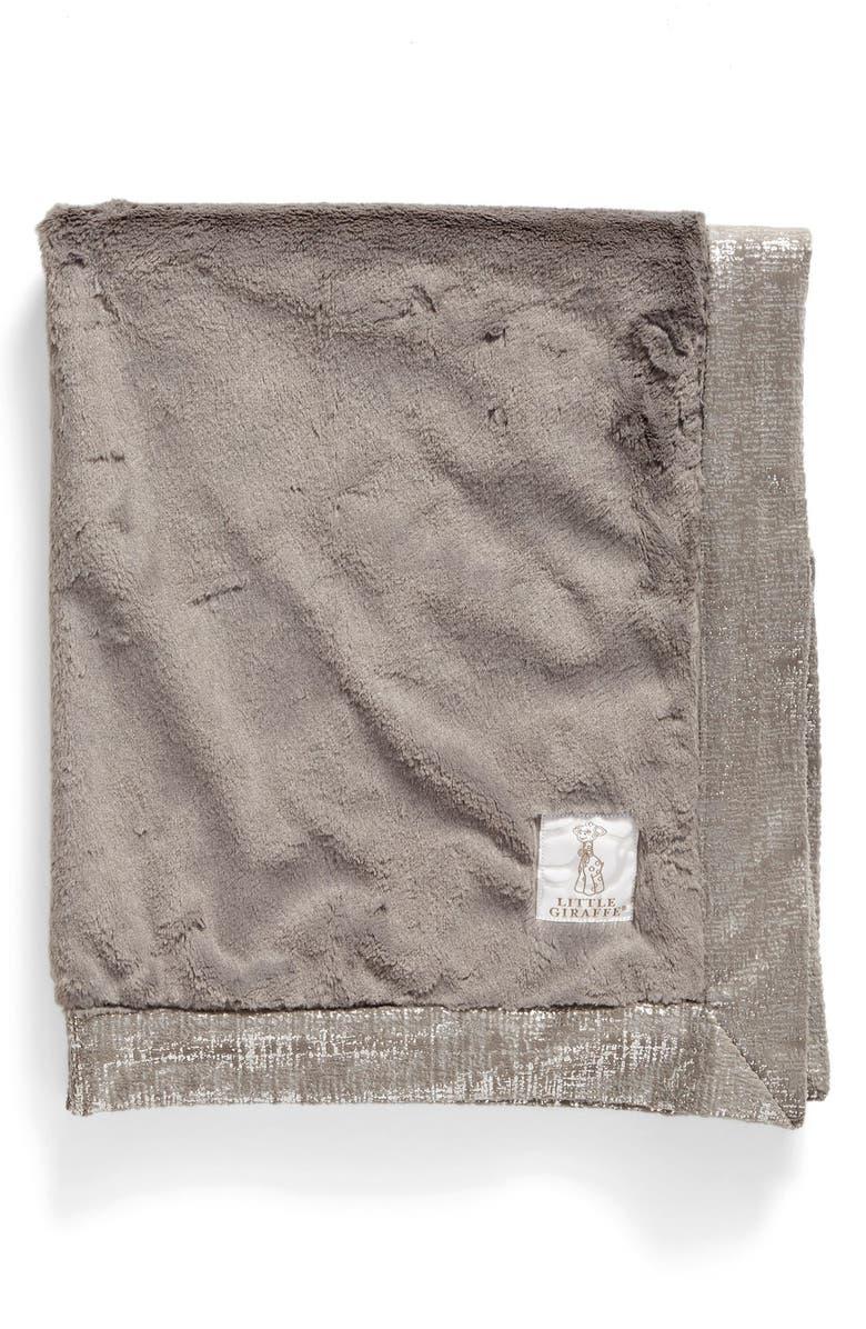 LITTLE GIRAFFE Luxe Lustre<sup>™</sup> Rain Blanket, Main, color, CHARCOAL
