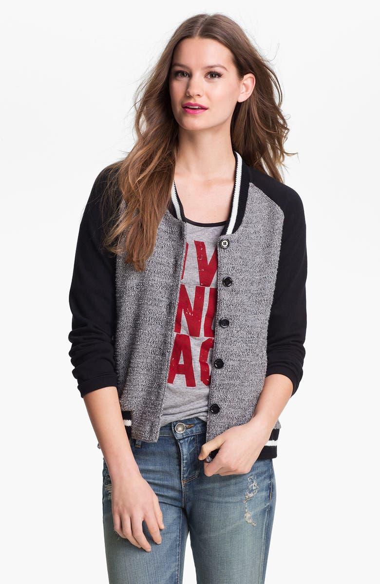 KUT FROM THE KLOTH Baseball Sweater Jacket, Main, color, 020