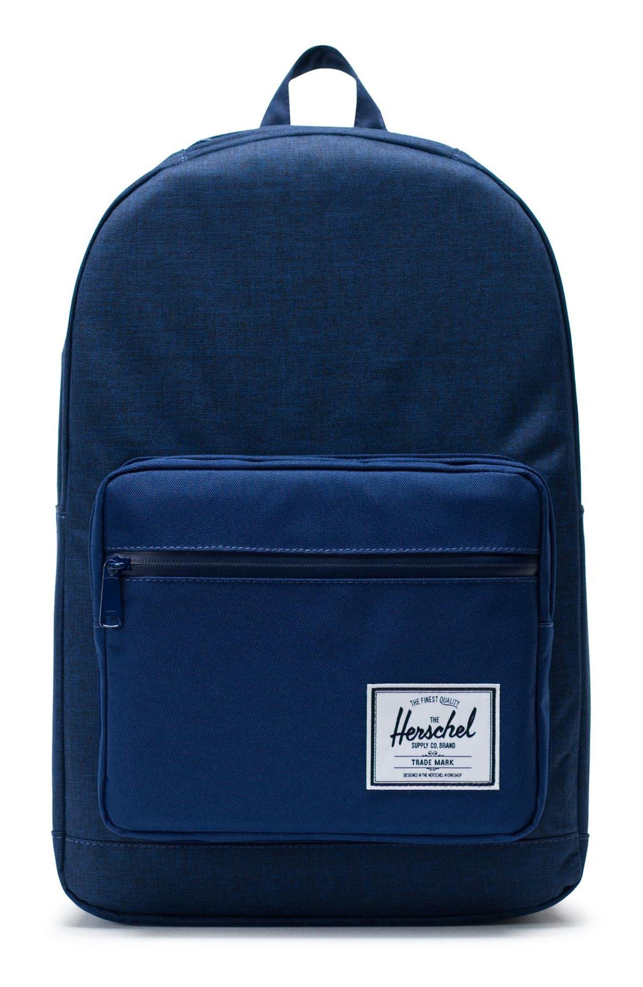 Pop Quiz Backpack, Main, color, MEDIEVAL BLUE CROSSHATCH