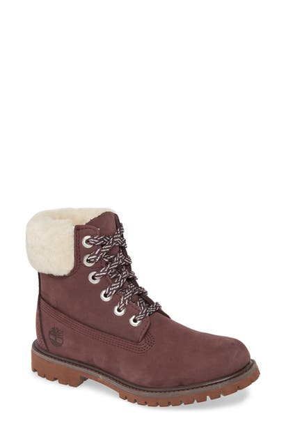 Timberland Boots GENUINE SHEARLING COLLAR WATERPROOF BOOTIE