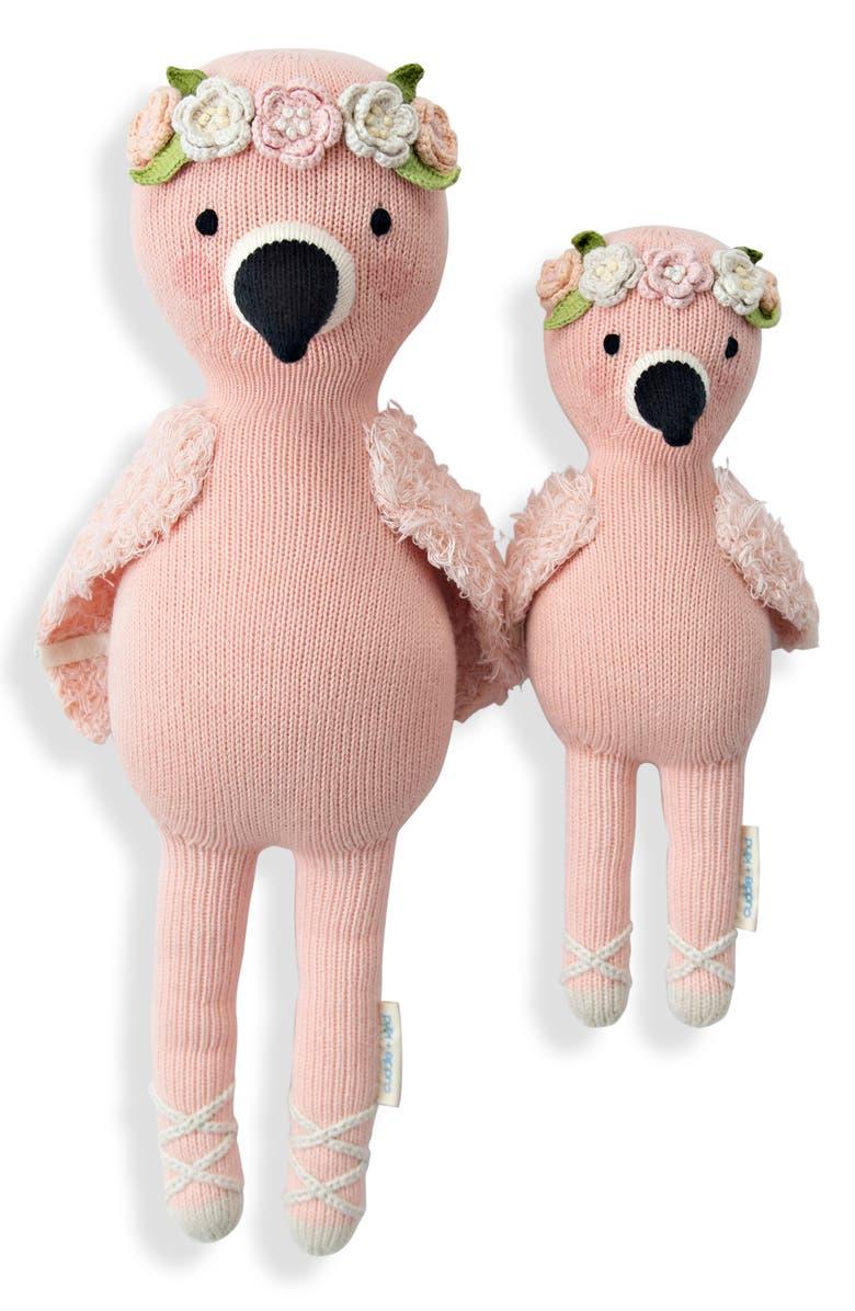 CUDDLE+KIND cuddle + kind Mini Penelope the Flamingo Stuffed Animal, Main, color, PINK