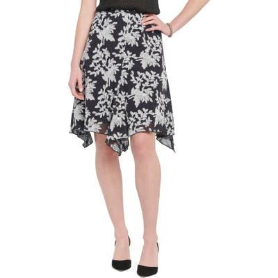 Nic+Zoe Aster Handkerchief Hem Skirt, Black