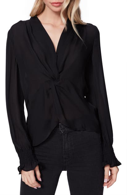 Paige LORIENNE TWIST FRONT SILK TOP